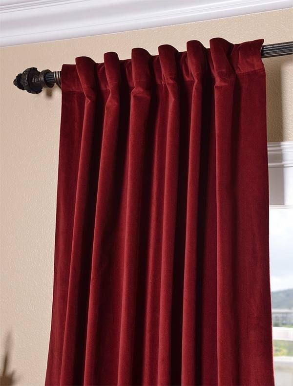 Superb Red Velvet Curtains Ikea