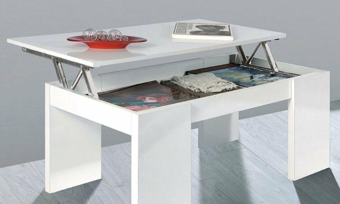 La Table Basse Relevable Pour Votre Salon Fonctionnel Archzine Fr Table Basse Relevable Table Basse Table Moderne