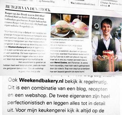 Dankejwel Rutger dat je ons waardeert - Artikel in Jan magazine / eten editie