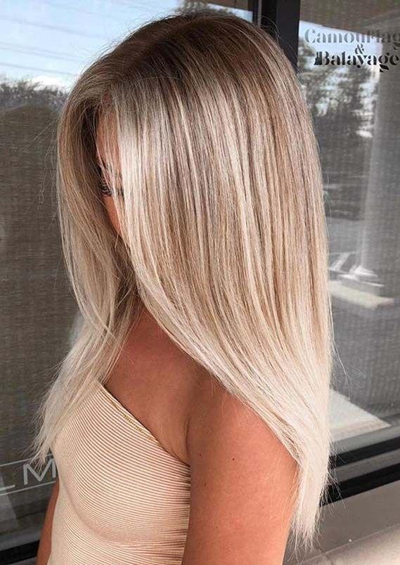 Best Of Blonde Balayage Schlanke Straight Frisuren Ideen für 2019,  #Balayage #balayagehairst…