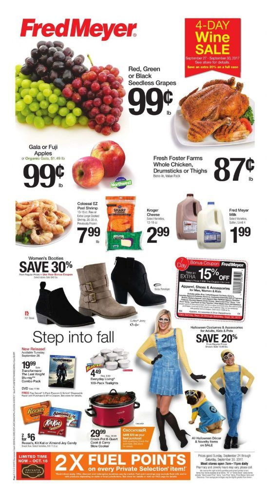 Fred Meyer Weekly Ad September 24 – 30, 2017 | Fred Meyer Weekly Ad
