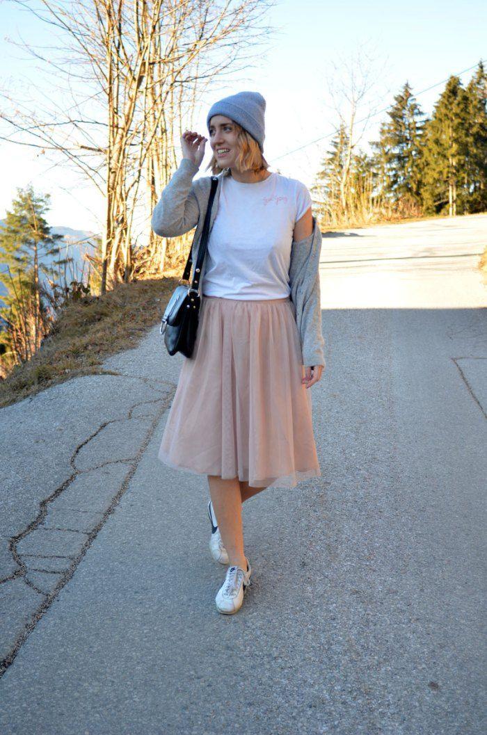 Blogger Silvester Neujahr Outfit Look Tutu Ballerina Rock Cortez Nike  Sneaker Blogger München Girl Gang