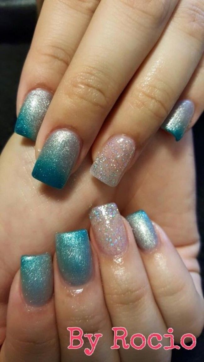 Acrylic With Mood Changing Color Gel Polish | nails | Pinterest ...
