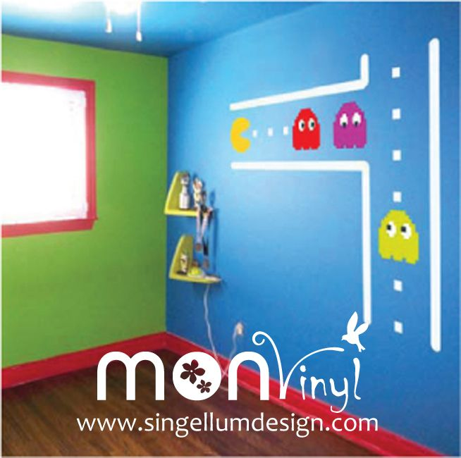 Vinilo de pacman vinilos decorativos vinilos vinilo for Stickers decorativos infantiles