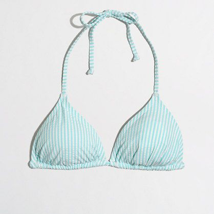 271d5fd687 Factory triangle bikini top in seersucker - Swim & beach cover-ups -  FactoryWomen's New Arrivals - J.Crew Factory
