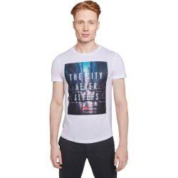 Tom Tailor Herren T-Shirt mit Print, grau, unifarben mit Print, Gr.M Tom TailorTom Tailor #graphicprints