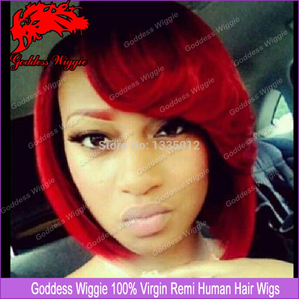 Kandi Burruss Bob Hairstyles Cherry Red Bob With Flipped Bang If Olivia Pope Went Red Red