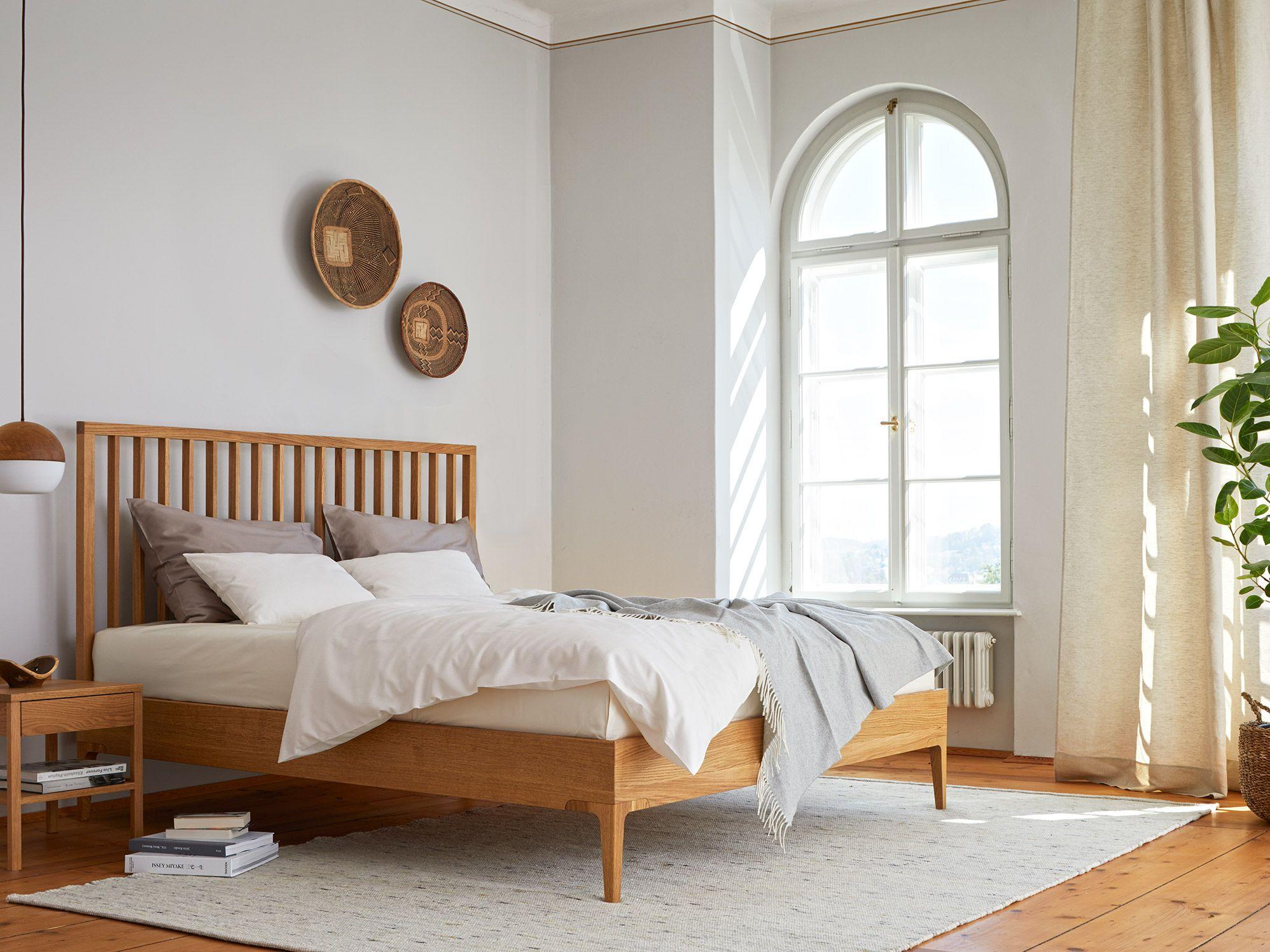 Bett Altro, Sprossenbetthaupt Wohnen, Schlafzimmer ideen