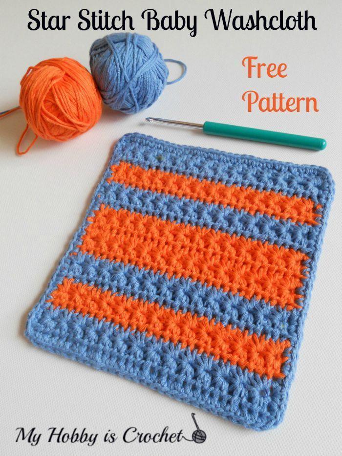 Crochet Star Stitch Variation Star Stitch Baby Washcloth