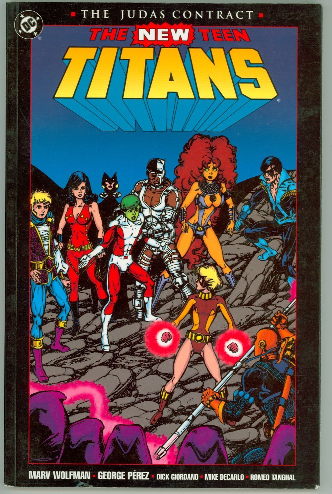Dc - The New Teen Titans The Judas Contract First Print -1423
