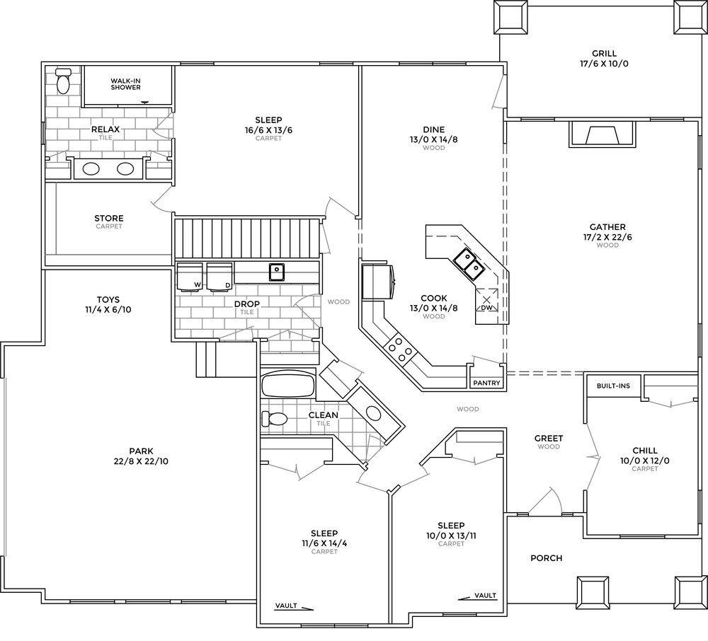 Endor Main Floor Plan Jpg Floor Plans House Plans How To Plan