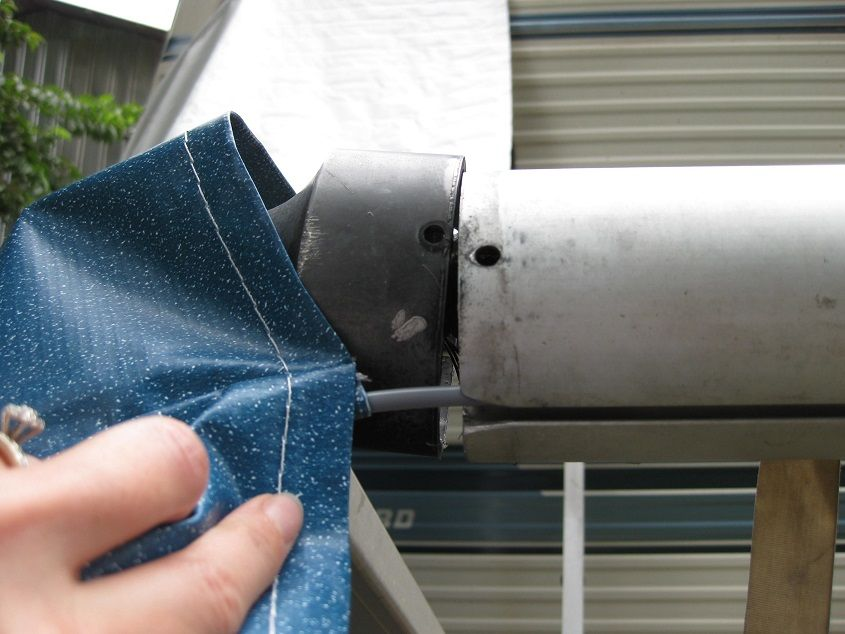 How To Replace Rv Slide Topper Awning Fabric Well This Was Upsetting The Wind Caught Our Awnin Fabric Awning Rv Awning Fabric Rv Awning Replacement