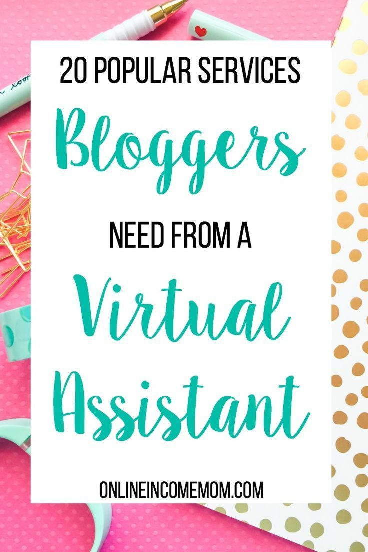 If you are hoping to build your online income as a virtual assistant, you need to know what services are popular right now. Bloggers are a great