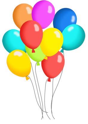 birthday balloons and cake clip art many colorspng clipart rh pinterest com balloon clipart free balloons clip art birthday