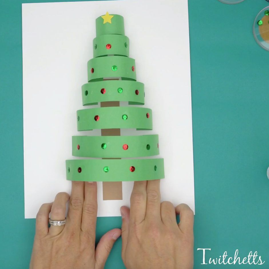 How To Make A Fun 3d Paper Christmas Tree Craft With Construction Paper Twitchetts Christmas Tree Crafts Construction Paper Crafts Christmas Arts And Crafts