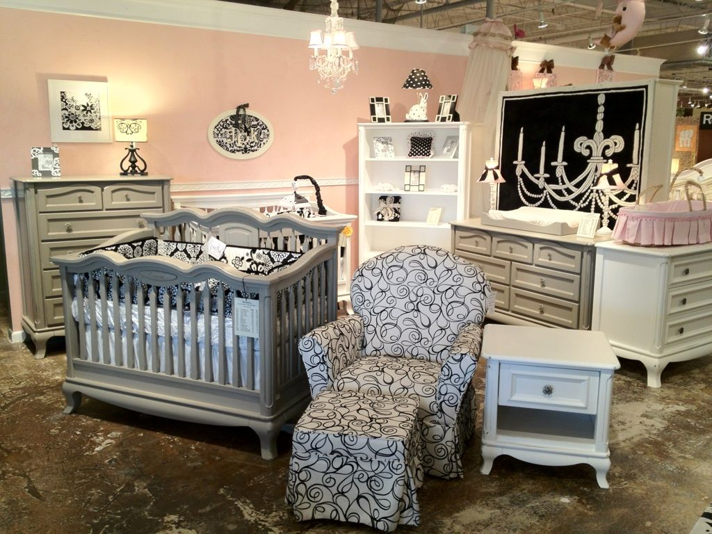 Used crib for sale atlanta - Cleopatra And Antonio Display In Front Showroom Crib Nursery Baby Romina