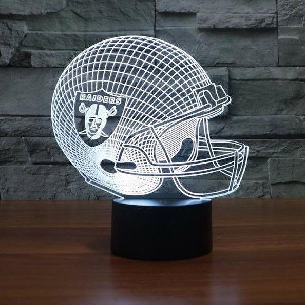 Nfl Oakland Raiders 3d Led Light Lamp 3d Led Light Led Light Lamp Lamp Light