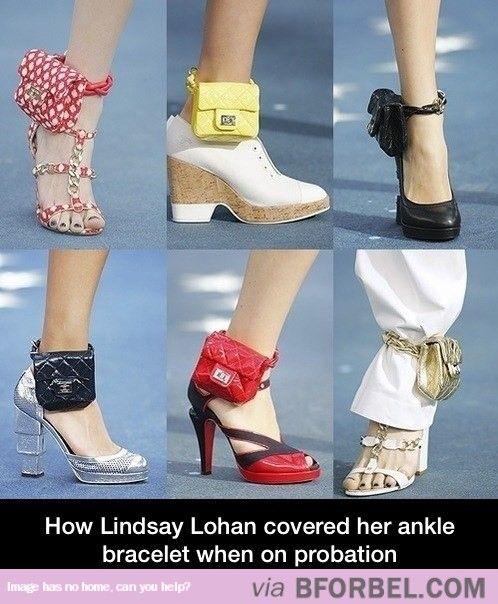 4bf076d0df3b How Lindsay Lohan Covered Her Ankle Bracelet While On Probation ...
