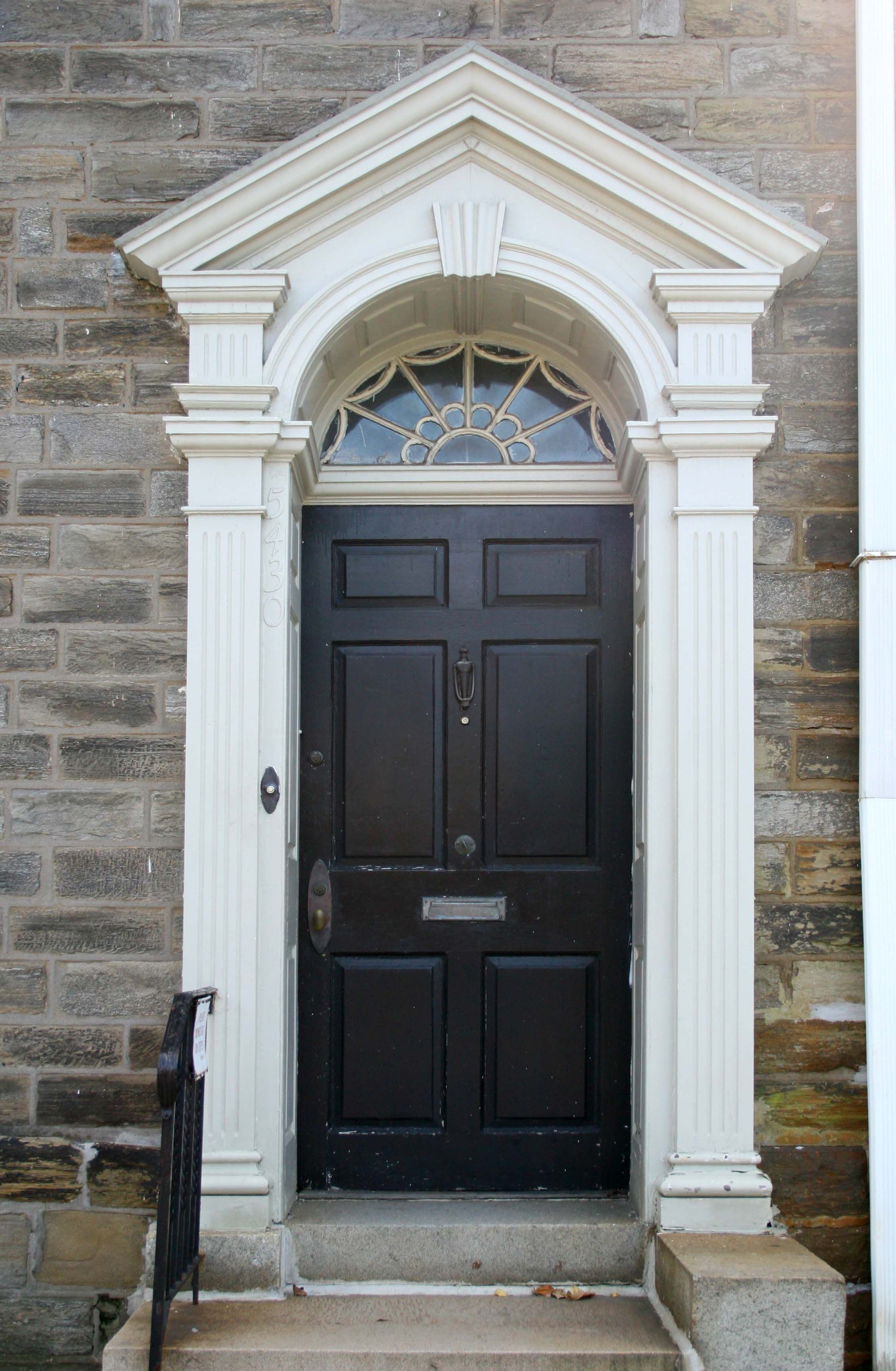 Another Beautiful Doorway In Germantowne Pa To Order A Similar Custom Door For Your Home Contact Seven Trees Georgian Doors Facade House Exterior Door Frame
