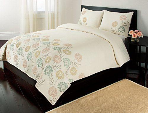 100 Cotton 3pc Full Queen Duvet Cover Set Daphne Blowout