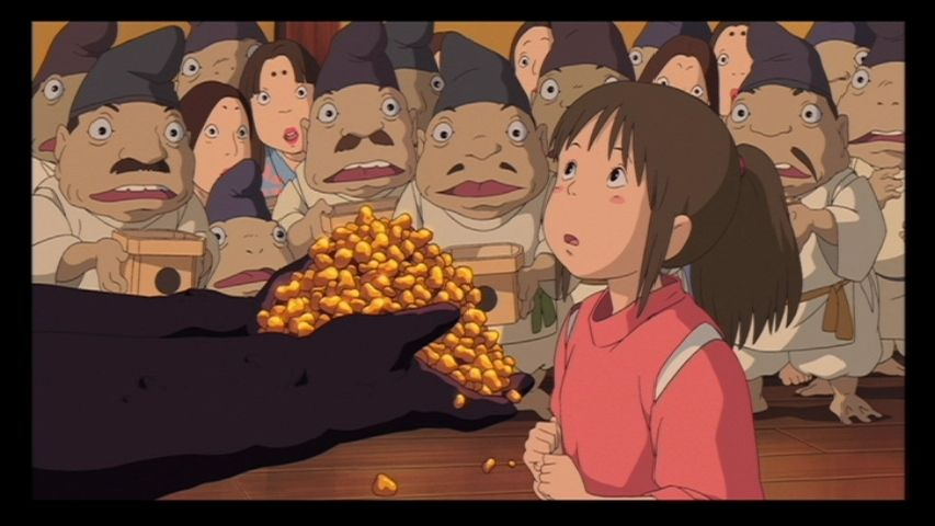 Girl Goldfish Wallpaper No Face Offers Chihiro A Big Pile Of Gold Nuggets But She