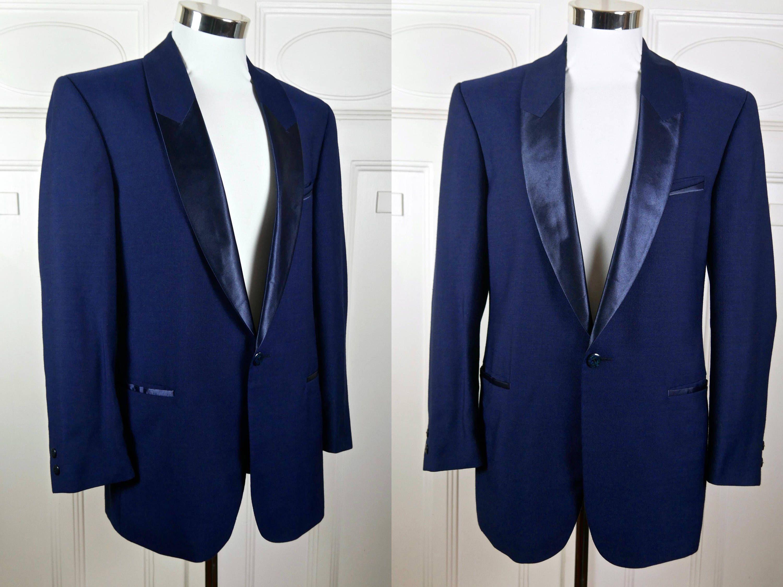 4552cae791f2 Sapphire Blue Tuxedo Jacket, Singled-Breasted Blue Dinner Jacket, Shawl  Lapels That Mimics Peak Lapels Smoking Jacket: Size 38 US/UK by  YouLookAmazing on ...