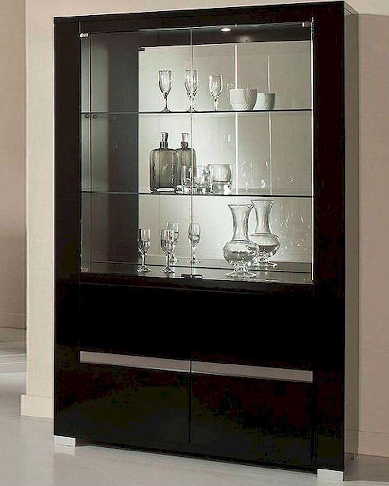 Adriana Modern Black China Cabinet 44dadrcc Modern China Cabinet Dining Room Cabinet Contemporary China Cabinets
