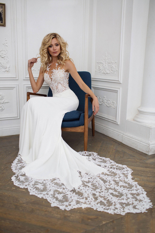 Mermaid Wedding Dress Illusion Back Wedding Dress Etsy Weddingdress Wedding Dresses Lace Wedding Dress Illusion Back Etsy Wedding Dress [ 3000 x 2000 Pixel ]