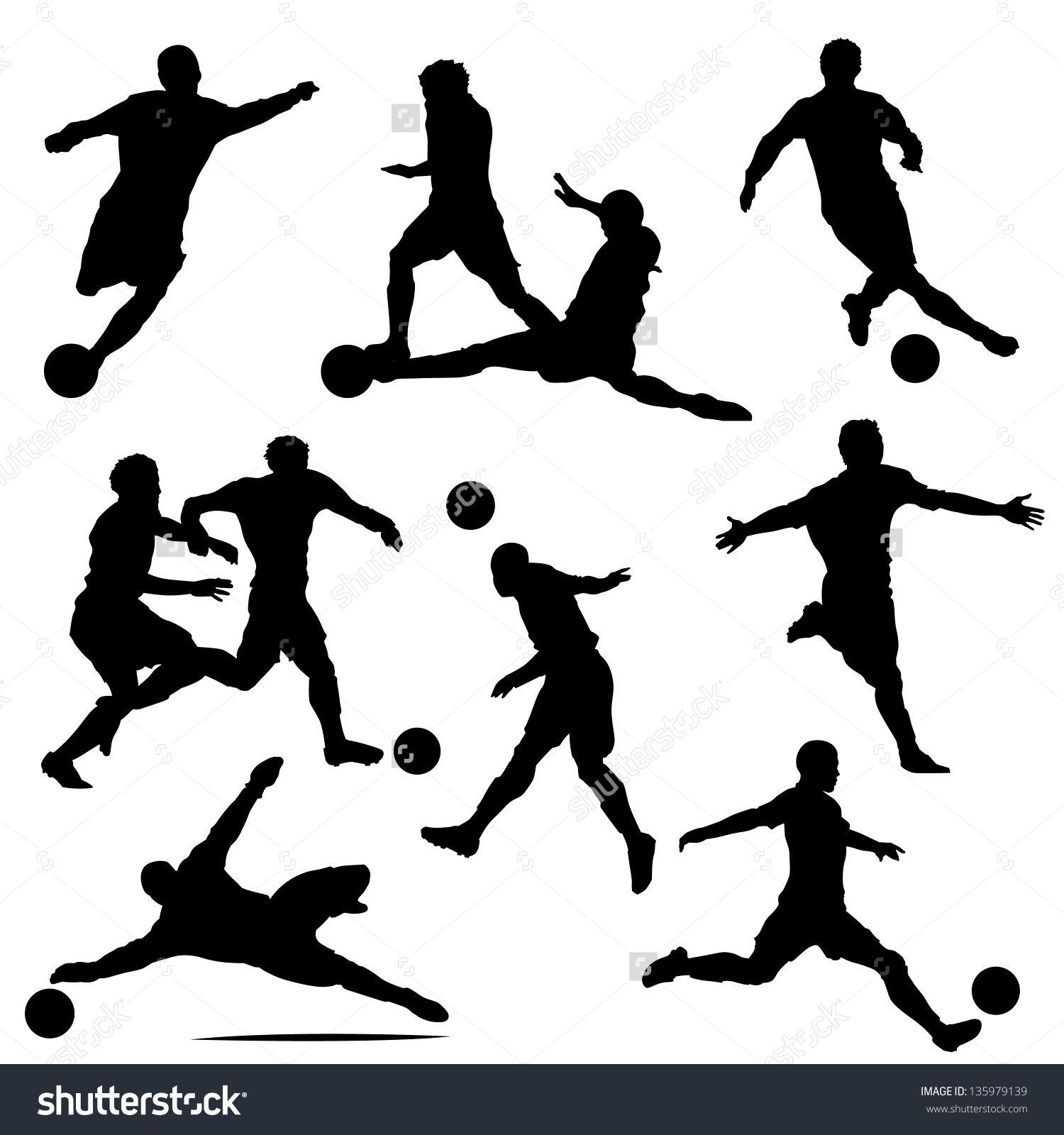 Soccer silhouette vector