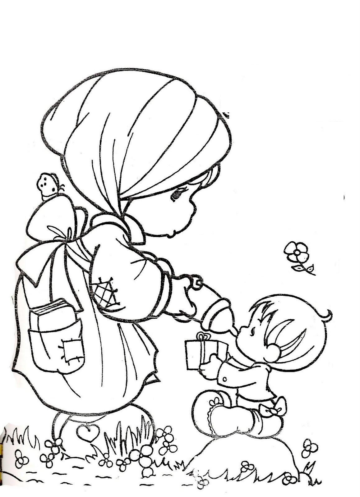 baby precious moments coloring pages free coloring pages