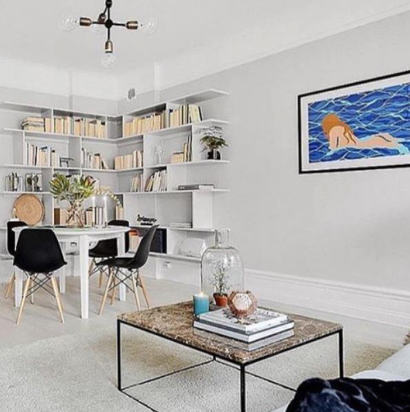 Brunt, längre marmorbord med svart stålram Soffbord, brun, hallbord, marmor, bord, möbler