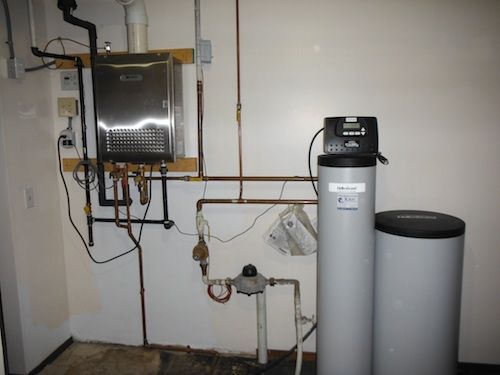 Wheaton Plumbing Noritz Tankless Water Heater And Hellenbrand Water Softener System Installation Water Softener Water Softener System Tankless Water Heater
