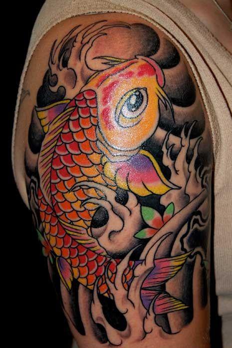 Pez koi rojo tattoo pinterest pez koi koi y rojo for Carpa koi negra