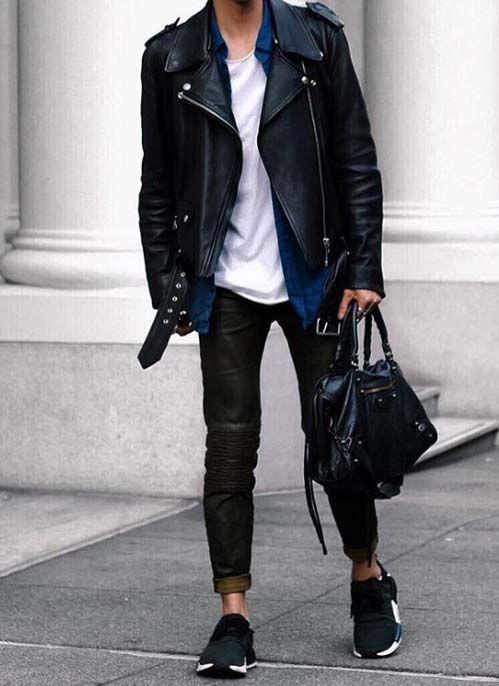 Stylish Work Outfit Gym Bag Urban Men Trainer