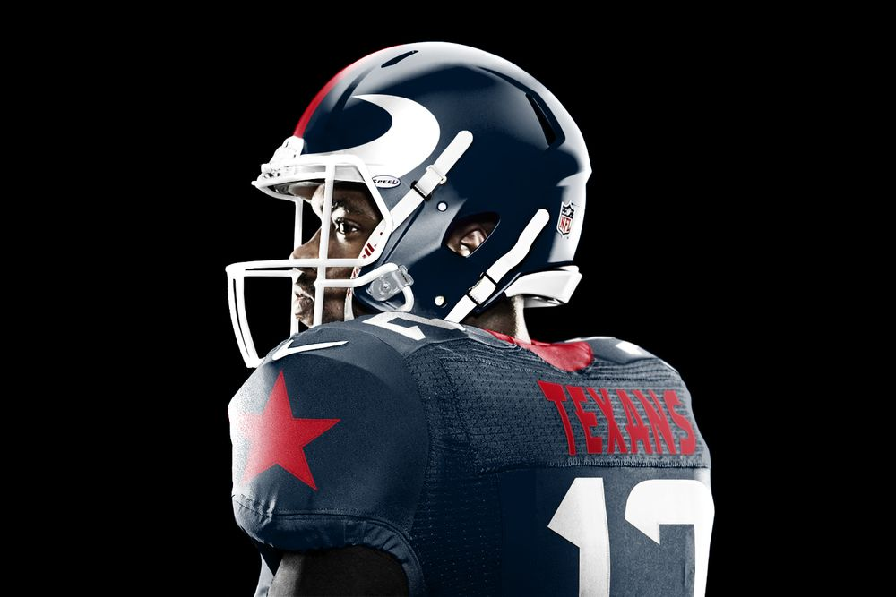 Redesign Of The Texans Uniforms Love Them And The Helmet Is