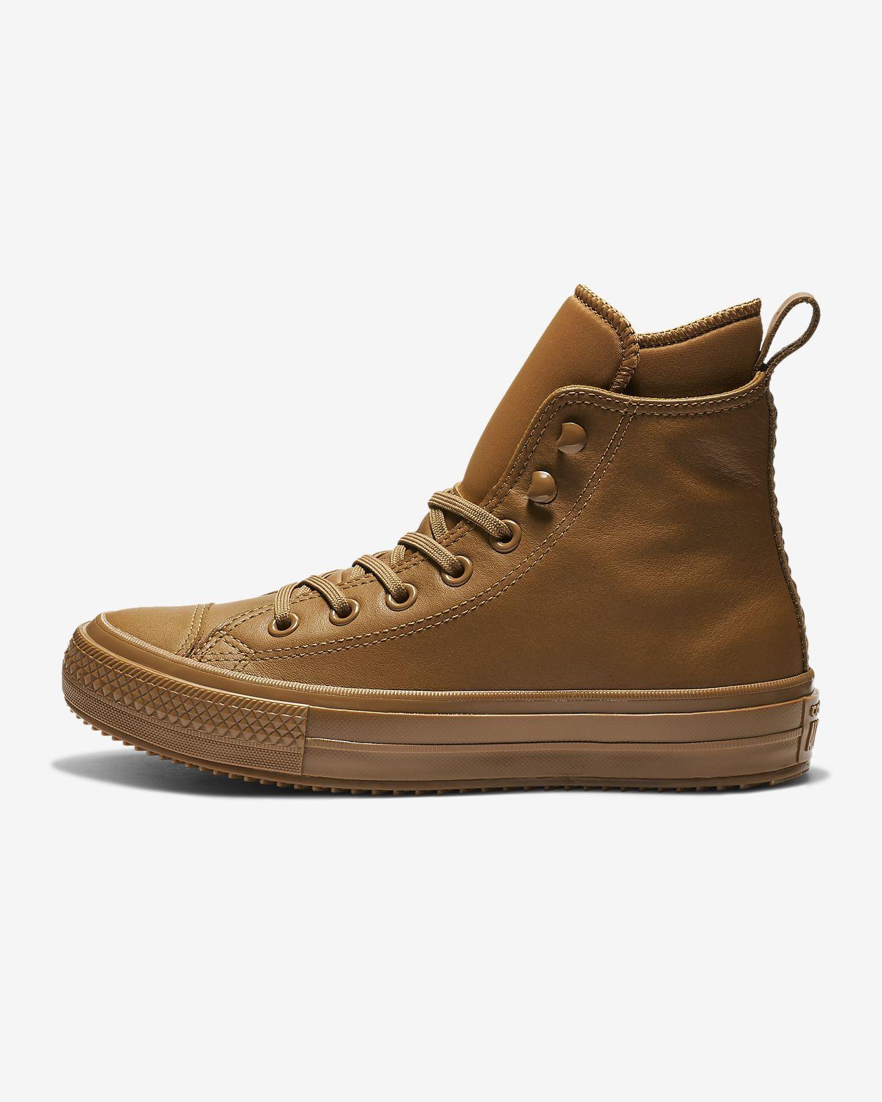 Converse Chuck Taylor All Star Waterproof Leder Hohe Beige