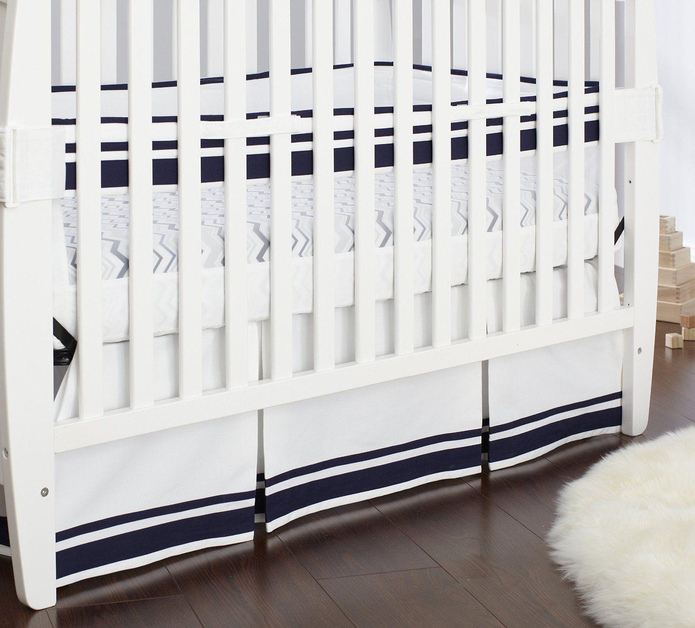 Amazon Com Just Born Fresh Air Crib Liner Navy Blue White Baby Crib Liners Cribs Best Crib Mattress