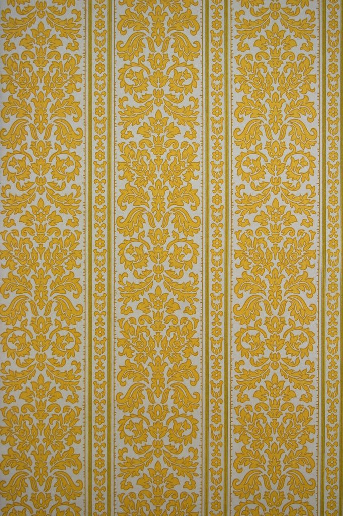 Many thanks green striped damask wallpaper