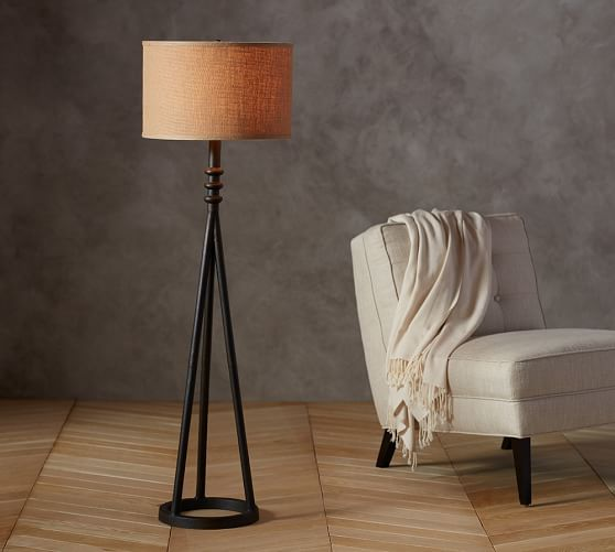 Orson Floor Lamp Base With Images Iron Floor Lamp Floor Lamp