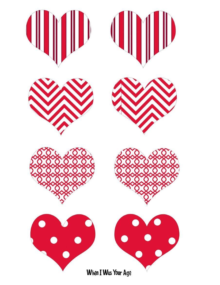 When I Was Your Age Valentine Heart Picks Valentines Printables Free Valentine S Cards For Kids Valentine