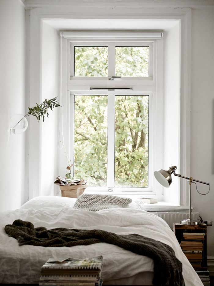 Cosy Vibes In A Small Scandinavian Style Apartment. One Room FlatBedroom  Ideas ...