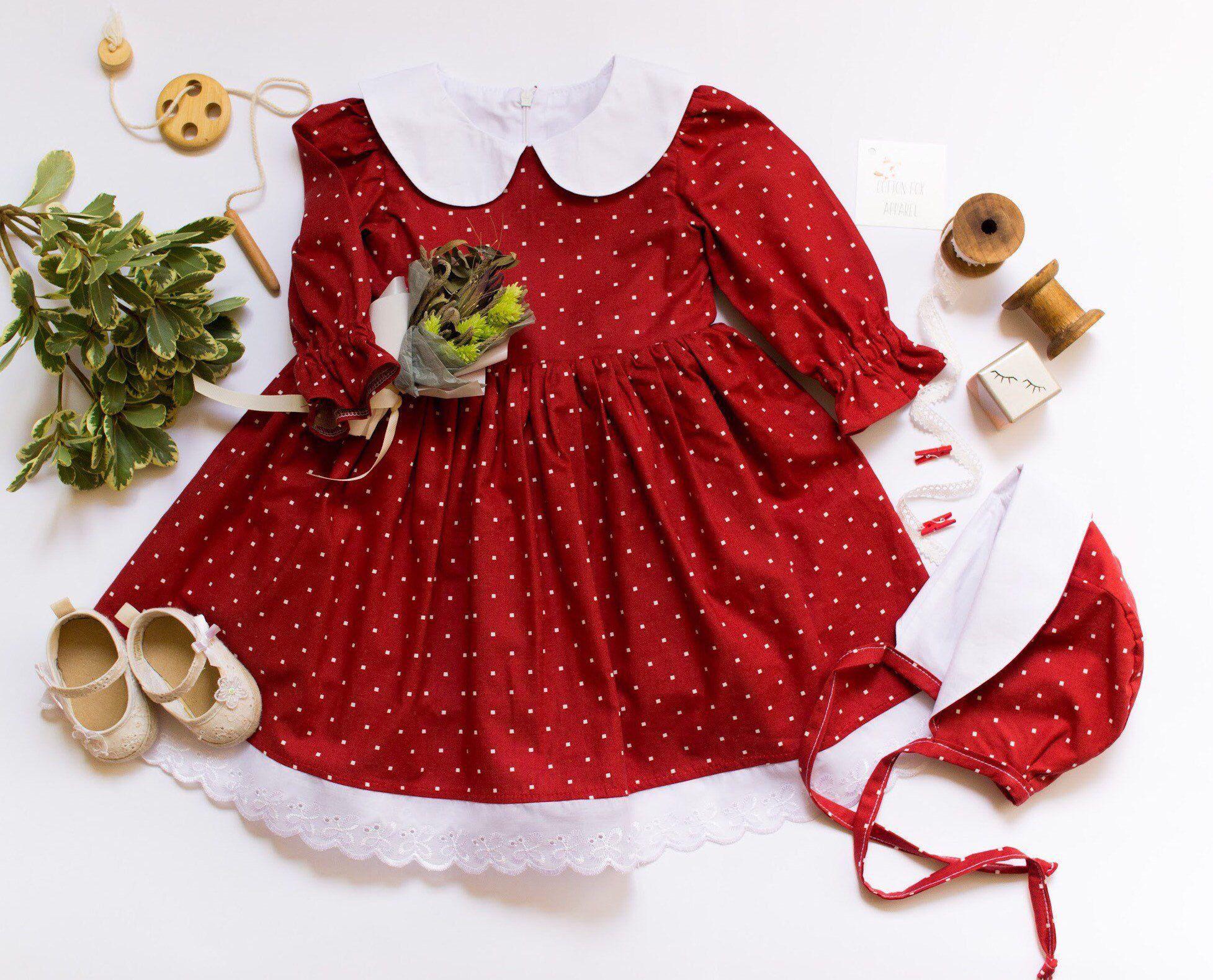 التزحلق جلد متسلق الجبال baby girl long sleeve red dress