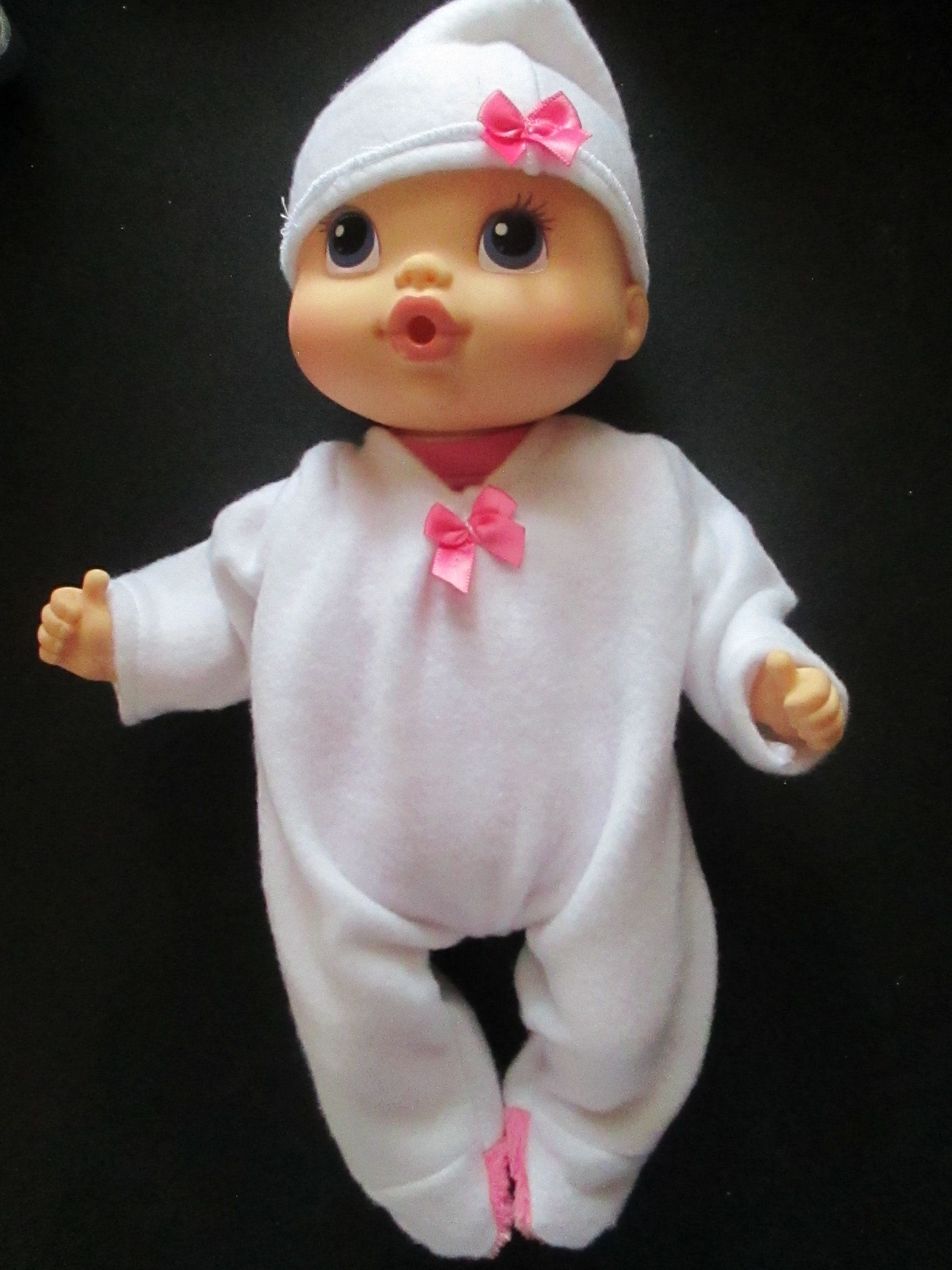 Doll Clothes 2 Pc Fleece Footed Sleeper And Hat 12 13 Baby Dolls Miniland Baby Alive With Images Baby Dolls Baby Alive Dolls Baby Alive