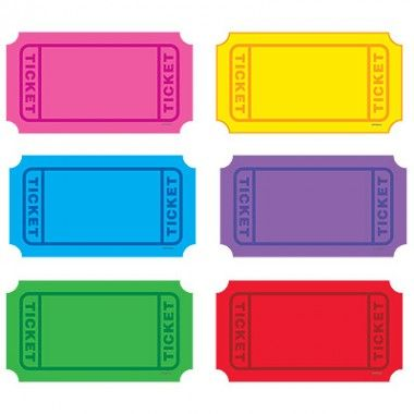 Winning Tickets Classic Accents Variety Pack Hollywood Theme Classroom Printable Tickets Labels