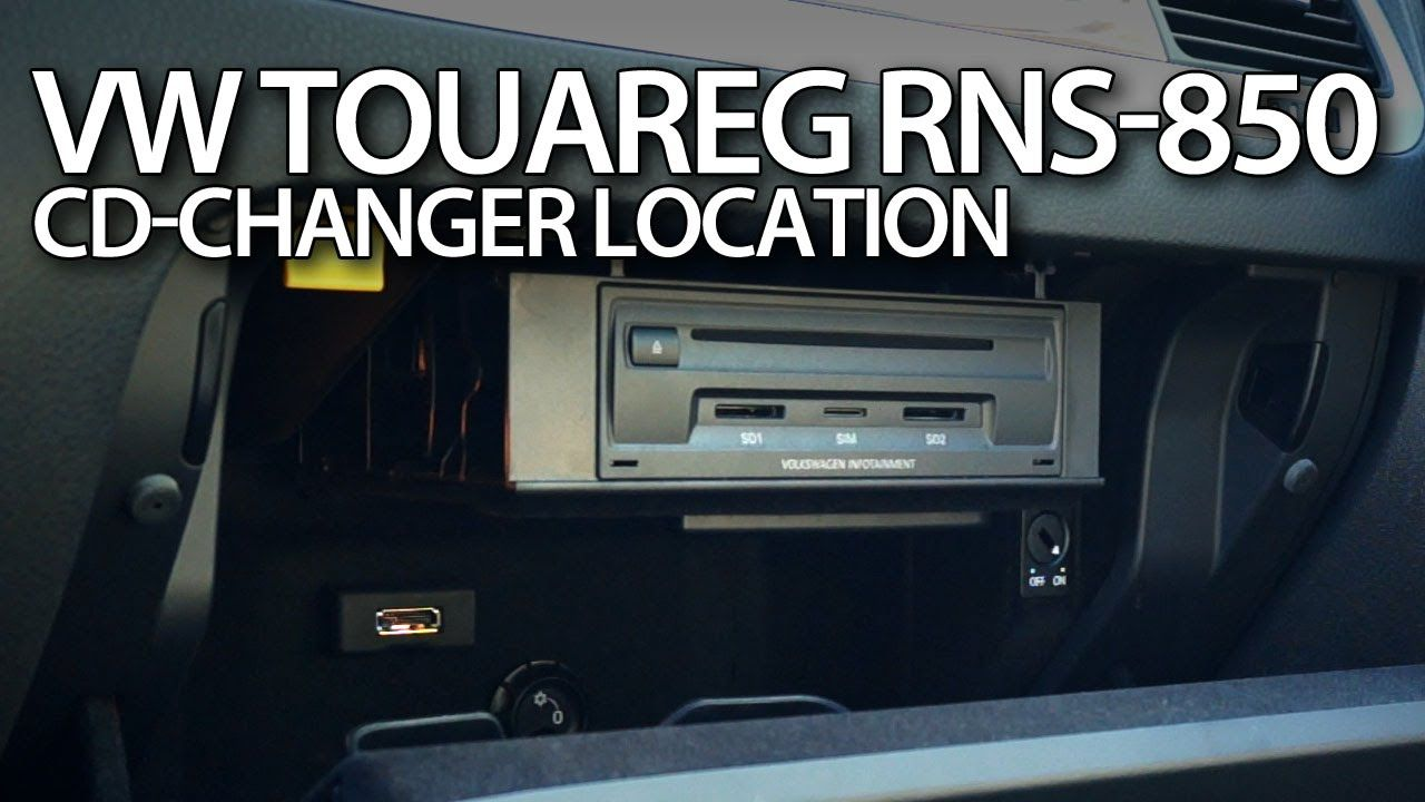 Where is CD changer in #VW #Touareg II (CDC, Volkswagen 7P5