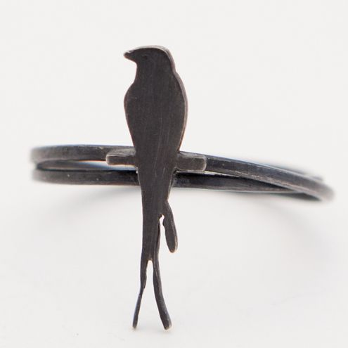 Swallow ring by Sally Ayling £17 #folksy #handmade #uk #silver #birds #jewellery