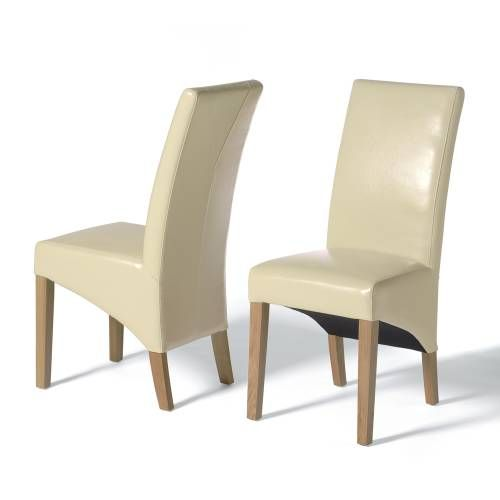 Leather Dining Chairs Oscar Cream X2 Well Made And Competitively Priced Our