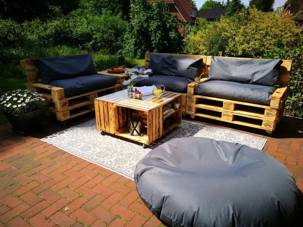 ᐅ Paletten Lounge Bauen Kaufen Palettenmöbel Shop Paletten Lounge Möbel Aus Paletten Außenmöbel