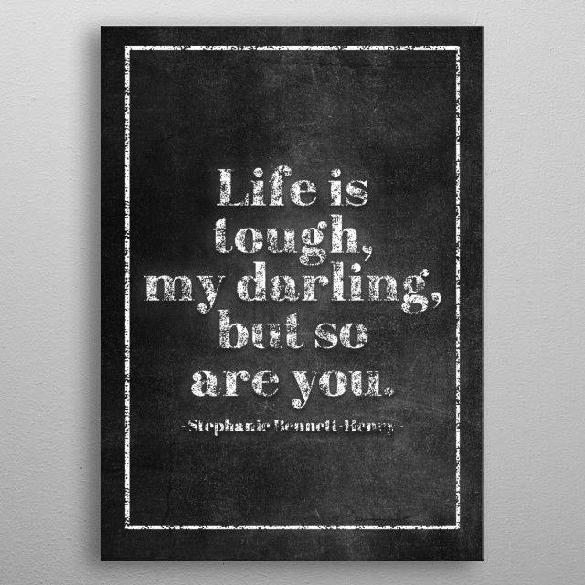 LIFE TOUGH by FARKI15 DESIGN | metal posters - Displate | Displate thumbnail