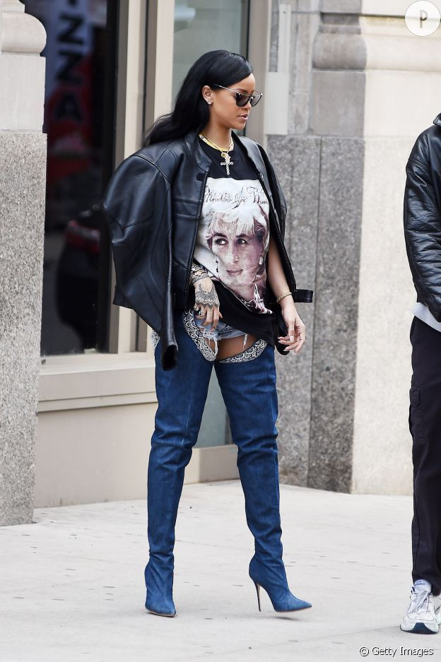 Rihanna   ses street styles les plus cool   Shoes   Cuissardes ... a1f8ed77a524